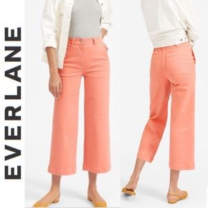 Everlane The Wide Leg Coral Crop Pant